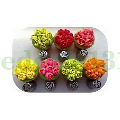 7x Fantastic Sphere Ball Russian Icing Piping Nozzles Tips Pastry Cake Tool