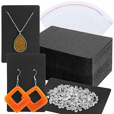 400pack Rectangle Earring Holder Bags Cards Earring Backs For Display Jewelry