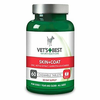 VET'S + BEST SKIN + COAT 60 TABLETS FOR DOG 1 YEAR ALDER BRAND NEW RETAIL BOX