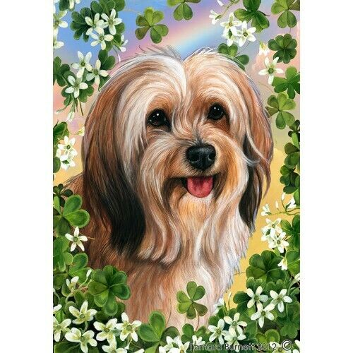 Clover House Flag - Red Sable Tibetan Terrier 31480
