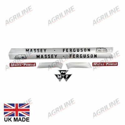 Massey Ferguson System 135 145 148 Multipower Tractor Bonnet Decal Sticker Set