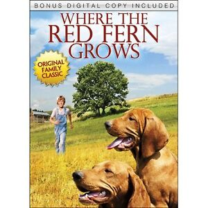 Where The Red Fern Grows dvd + digital copy-new and sealed