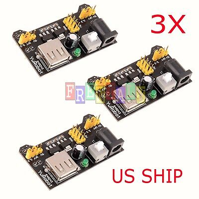 3X MB102 Breadboard Power Supply Module 3.3V 5V for Arduino Bread Board