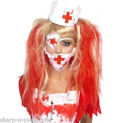 y Dead Zombie Nurse Halloween Kit Fancy Dress Costume Outfit (Halloween-kit)