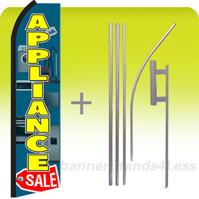 Appliance Sale - Feather Flutter Swooper Banner Sign Flag 15 Kit - Gz
