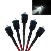 12V 5mm White LED
