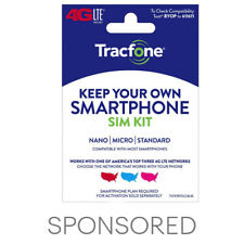 ($25 Gift Card Promotion) Tracfone Keep Your Own Phone 3-in-1 Prepaid SIM Kit