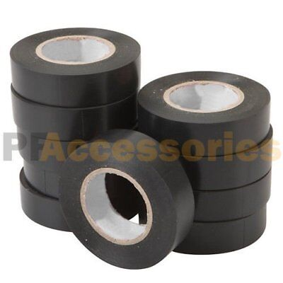 10 Rolls 50 Ft General 0.7 Inch Vinyl Pvc Black Insulated Electrical Tape Lot