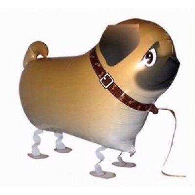 PUG DOG WALKING BALLOON FOIL HELIUM PET PARTY AIRWALKER BIRTHDAY PUPPY AIR FARM  - Party Dog