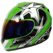 Green Motorcycle Helmet