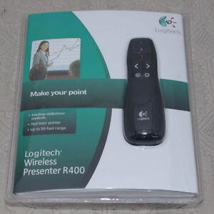 Logitech R400 Wireless Presenter Red Laser Pointer Receiver Remote Control Pen