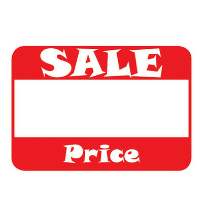 "500 Self-Adhesive Sale Price Rectangular Retail Labels Sticker Tag 2"" L x 1.1"" H"