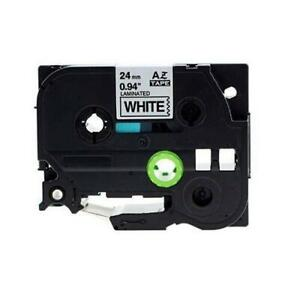Weekly Promo!  Brother TZe-251 Label Tape, 24mm (0.94), Black on White, Compatible