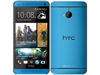 NEW Unlocked HTC ONE (M7) 32GB Quad-Core 4.7 Inches Android Smart Phone - Blue