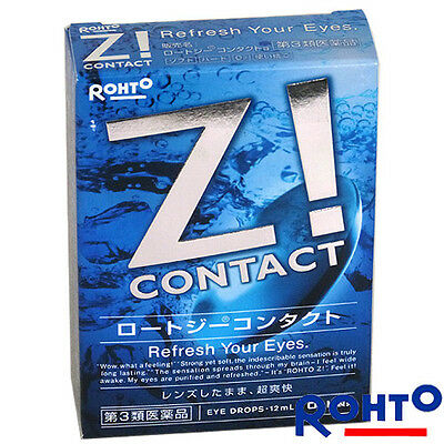 New Rohto Japan Z! Contact Eye Drops Cool Discomfort Wearing Contact Lenses 12ml (Cool Contact Lenses)