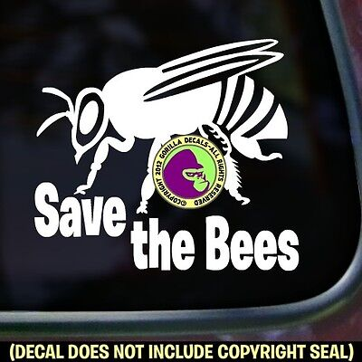 SAVE THE BEES Decal Sticker Honey Beekeeping Beekeeper Bumper Car Window (Save The Honey Bees Sticker)