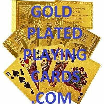 Gold Plated Playing Cards Domain Name Online Business Goldplatedplayingcards.com