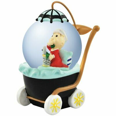 Popeye Water Globe Sweet Pea in Baby Stoller Collectable Figurine Cartoon 45mm ()
