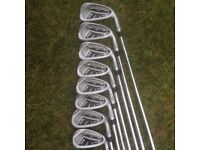 Ping i20 Golf Irons 4 - PW + AW (8 irons) Stiff CFS Steel shaft yellow dot **WILL POST**