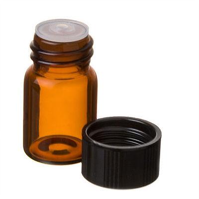 12 Amber Glass Sample Vials Worifice Reducer 2 Ml 58 Dram