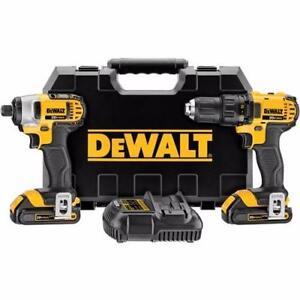 DEWALT DCK280C2 Ensemble compact de perceuse et visseuse à percussion combinées 1,5 Ah au lithium 20 V MAX neuffffff