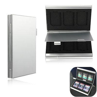 SD Speicherkarten Etui Tasche Case Box Hülle Speicher für 6 Karten Alu Cards