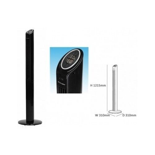 Tall Portable Fan : Oscillating tower fan remote control cooling home office