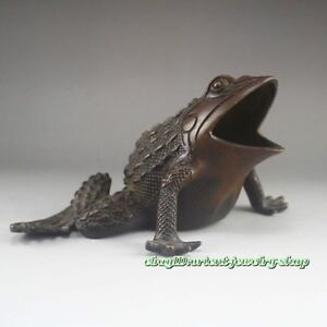 Collectables-China-old-Dynasty-Chinese-Bronze-Statue-Frog-NRo