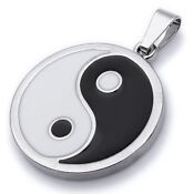 Mens Ying Yang Necklace