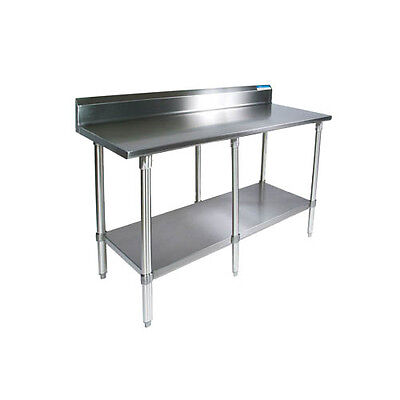 Bk Resources Vttr5-9630 96wx30d Economy Stainless Steel Work Table