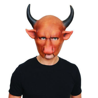 Minator Bull Mask With Horns Halloween Horror Fancy Dress Costume Outfit Prop (Halloween Costume Bull Horns)