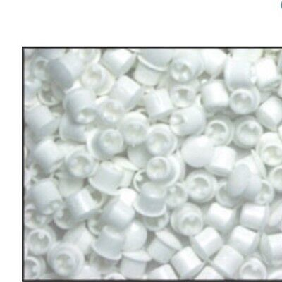 10 Pack 1/4inch white hole plugs cover window frames plastic, vinyl, furniture