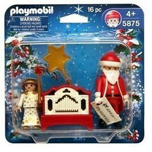 santa claus angel christmas working organ playmobil 5875. Black Bedroom Furniture Sets. Home Design Ideas