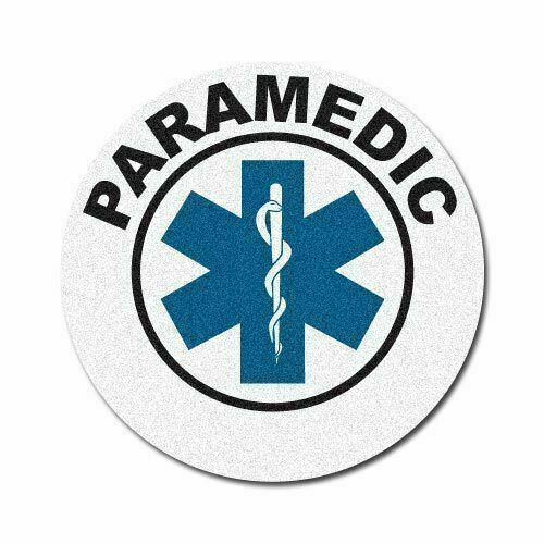 """3M Reflective 3"""" Round Fire/Rescue/EMS Helmet Front Decal - Paramedic"""