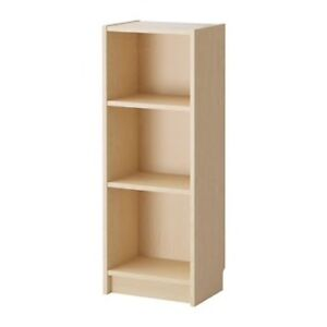 Ikea BILLY Bookcase, birch veneer and OXBERG Door, birch veneer