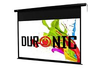 Duronic electric projector screen.
