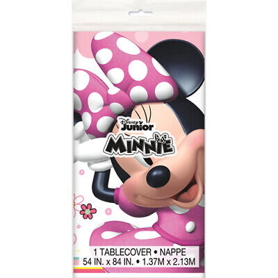 Minnie Mouse Birthday Table (MINNIE MOUSE Iconic PLASTIC TABLE COVER ~ Birthday Party Supplies)