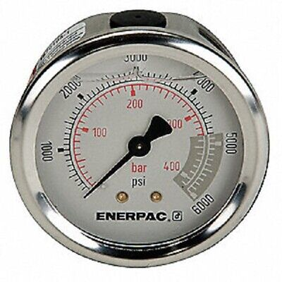 Enerpac G2534r 2-12 Pressure Gauge Glycerin-filled 0-6000 Psi 14 Nptf