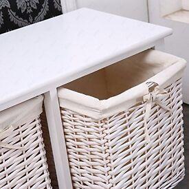 3 drawer wicker storage