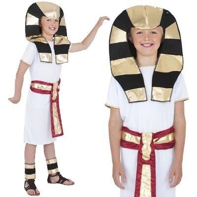 Jungen Pharao Kostüm (Kinder Kostüm Ägyptischer Pharao Kostüm Jungen ägyptisch King von Smiffys neu)