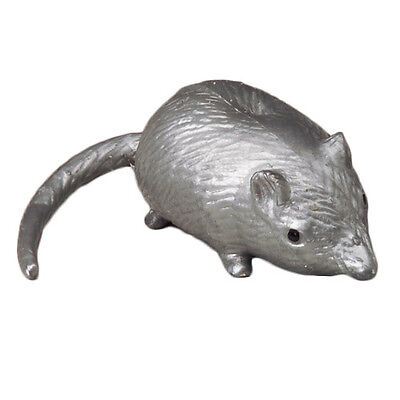 SQUEEZE RAT Rubber Sticky Squishy Mouse Splat Joke Toy Stress Water Ball Silver