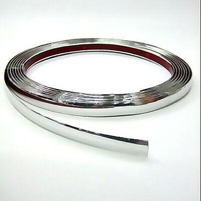12mm x 3 meter Chrom Zierleiste Leisten Chromleiste Selbstklebend Flexibel Kunststoff Tuning