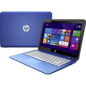 Blue touchscreen hp laptop