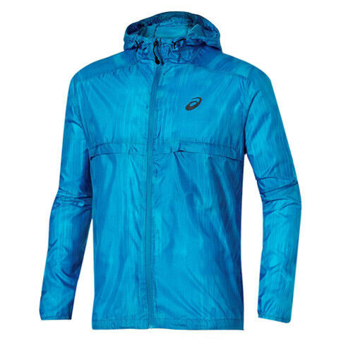 Details about Asics fuzeX Packable Running Zip Up Hooded Windrunner Jacket 129931BM 2068 RW26