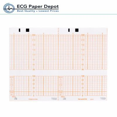 Ecg Ekg Thermal Paper Fetal Monitoring Chart Philips M1910a Compatible 40 Pack