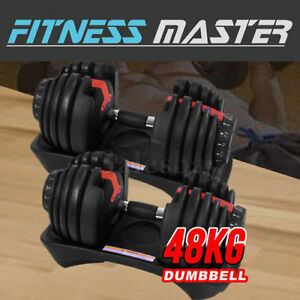 2x24kg Adjustable Dumbbell Set Home GYM Exercise Equipment Weight Thomastown Whittlesea Area Preview