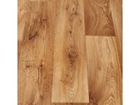 Cottage Oak Wood Effect Vinyl Flooring - 2m x 2m - New