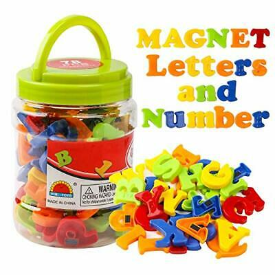 Magnetic Alphabet Magnets Letters And Numbers Toy ABC 123 Fridge Plastic