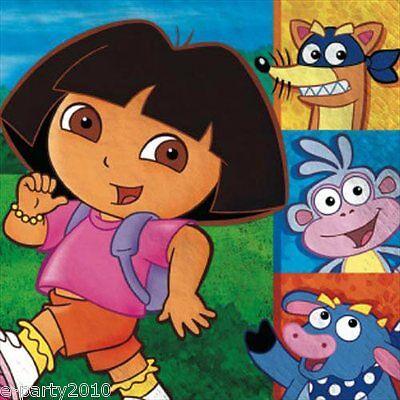 Dora The Explorer Birthday Party (DORA THE EXPLORER Party LUNCH NAPKINS (16) ~ Birthday Supplies Serviettes)