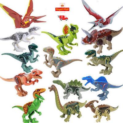 14pcs Jurassic World Park Dinosaurs Tyrannosaurus Mini Figures Toys With Lego